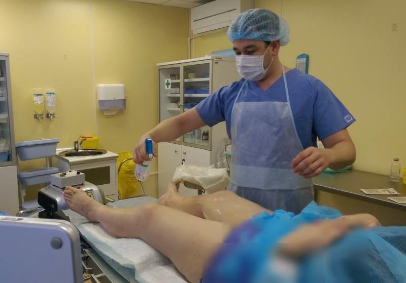 Обработка операционного поля антисептиками